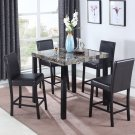 CD037 – Melissa 5 Pcs Marble Counter Height Set