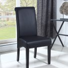 613 – Zander Upholstered Faux Leather Black Dining Side Chairs ( Set of 2 )