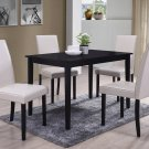 WA1200 – Megan 5 Pcs Contemporary Dinette Set (Black/ Cream)