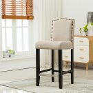 5089 – Lindon 29 Inch Upholstered Beige Bar Stools (Set of 2)