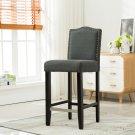 5089 – Lindon 29 Inch Upholstered Dark Gray Bar Stools (Set of 2)