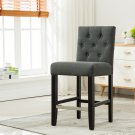 5088 – Kimberly 24 Inch Upholstered Dark Gray Bar Stools (Set of 2)