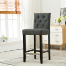 5088 – Kimberly 29 Inch Upholstered Dark Gray Bar Stools (Set of 2)