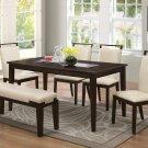WA1810 – Harper 6 Pcs Espresso Dining Room Set