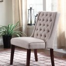 Y782 Newport, 2 Pieces Upholstered Side Chairs with Tufted Back (Beige)