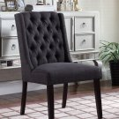 Y782 Newport, 2 Pieces Upholstered Side Chairs with Tufted Back (Black Charcoal)