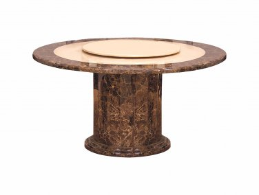 2915 � Round Marble Dining Table with Lazy Susan