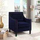 ZH119, Edinburgh Suede Living Room Arm Accent Chair (Navy Blue)