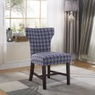 623, Belle Upholstered Fabric Accent Chair (Blue/White)