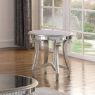 T1890, Legend Champagne Finish with Glass Top Living Room End Table