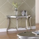T1890, Legend Champagne Finish with Glass Top Living Room Sofa Table