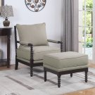 HL30, West Palm 2 Pcs Living Room Accent Chair with Ottoman