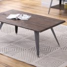 DX1720, Denver Industrial Antique Brown Living Room Coffee Table