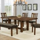 HT204, Fort McHenry Walnut Finish 6 Pcs Dining Set