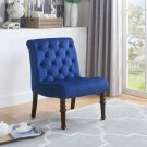 YF06, Fremont Upholstered Tufted Armless Accent Chair (Navy Blue)
