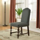 592 – Traditional Stone Gray Dining Side Chairs (Set of 2 Pcs)
