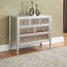 T1870, 6 Drawer Console Cabinet in Champagne Gold Mirrored Finish