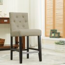 5088 – Kimberly 24 Inch Upholstered Beige Bar Stools (Set of 2)