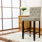 5088 – Kimberly 29 Inch Upholstered Beige Bar Stools (Set of 2)