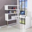 BA202, International Modern White Desk and Book Shelf