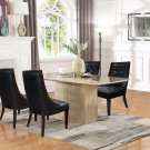 2935, Raphael 5 Pcs Rectangular Marble Dining Set (Black/ Espresso)
