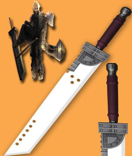 """Cloud Buster Sword 42"""" With Free Display Stand+Sheath"""