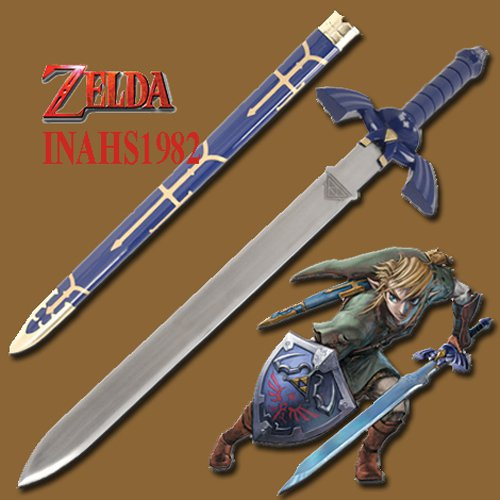 Details about  ZELDA MASTER SWORD WITH SCABBARD+ WALL PLAQUE