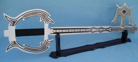 "Kingdom Hearts Oblivion keyblade with ""Display Wooden Stand"""