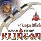 "Star Trek Klingon Batleth 24"" Battle Axe + Wooden Stand"