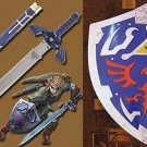 ZELDA MASTER SWORD AND LEGEND OF ZELDA HYLIAN SHIELD