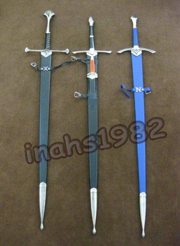LOTR Anduril Sword of Aragorn + Aragorn Strider Sword + Glamdring of Gandalf