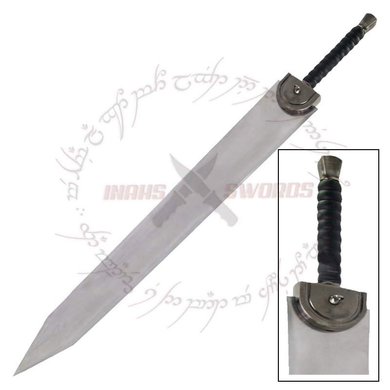 Details about  Berserk Guts Dragon Slayer Sword With Display Wooden Stand
