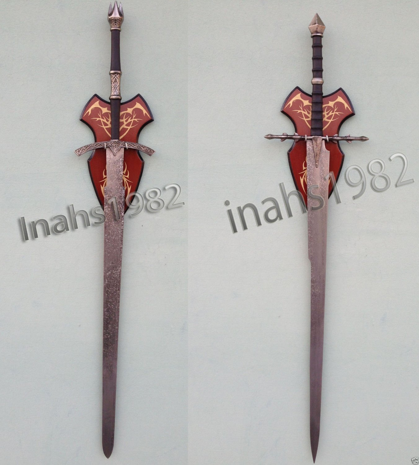 Witch King Sword + Ringwraith Swords from Lord of The Rings with Wall Plaque