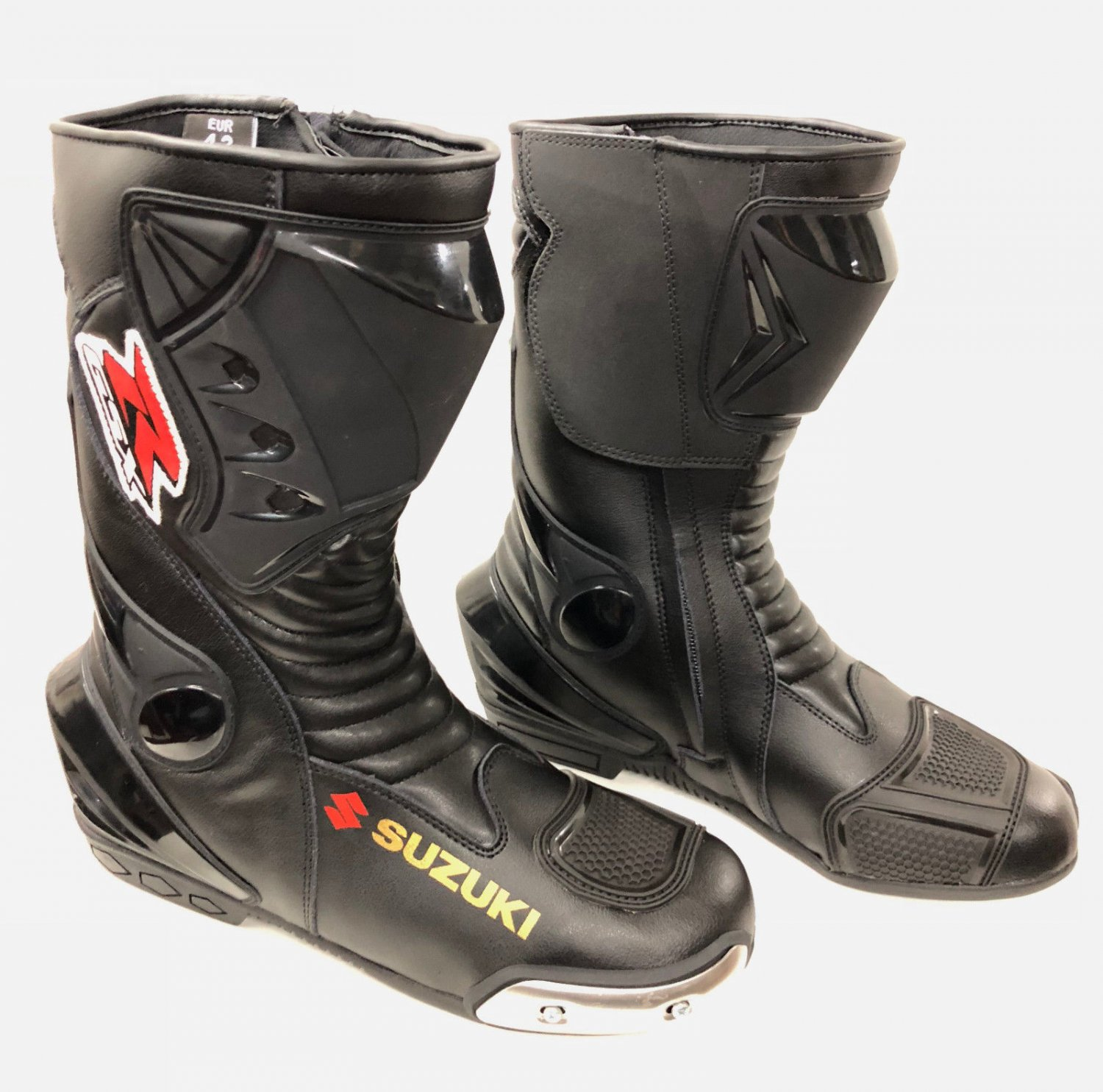 Suzuki Motorcycle Boots Riding Leather Boots All Size Available