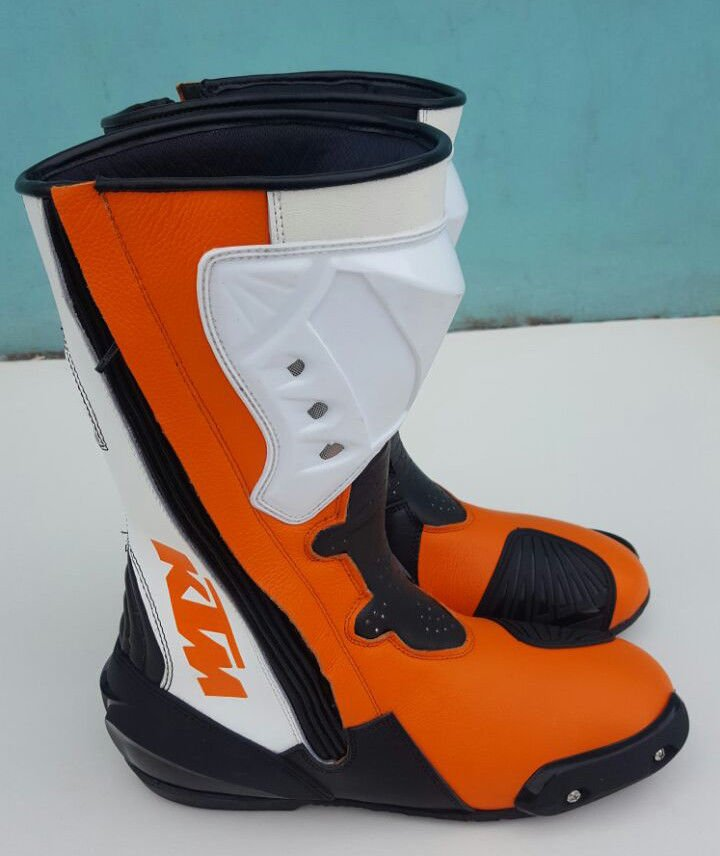 KTM Men's Motorcycle Boots Riding Leather Boots