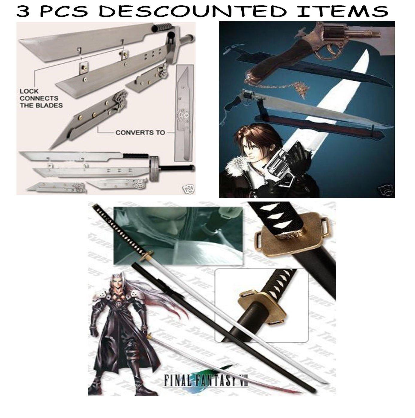 """Multi Advent Children Buster + Functional Gunblade + Masamune Sephiroth's 68"""""""