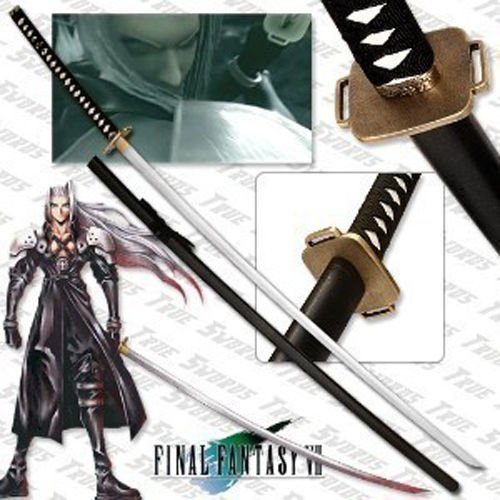 """Final Fantasy Masamune Sephiroth's Sword 68"""" With Wooden Stand"""