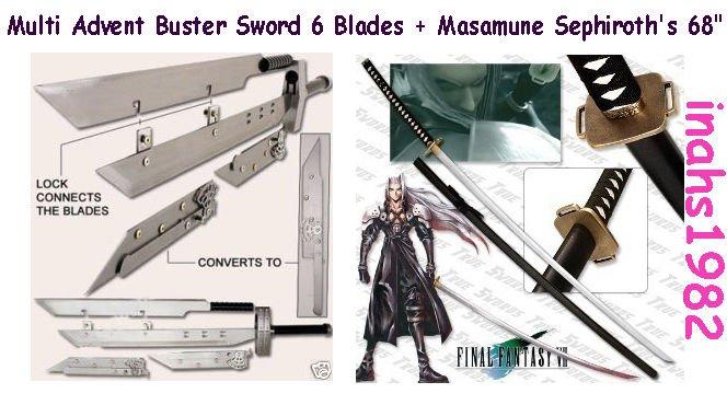 """Multi Advent Children Buster + Masamune Sephiroth's 68"""" Sword"""