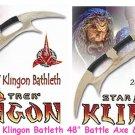 "2 Pcs Star Trek Klingon Batleth 48"" +  24"" Star Trek Klingon Battle Axe"