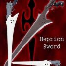 Final Fantasy Heprion Gunblade With Sheath + Wooden Stand