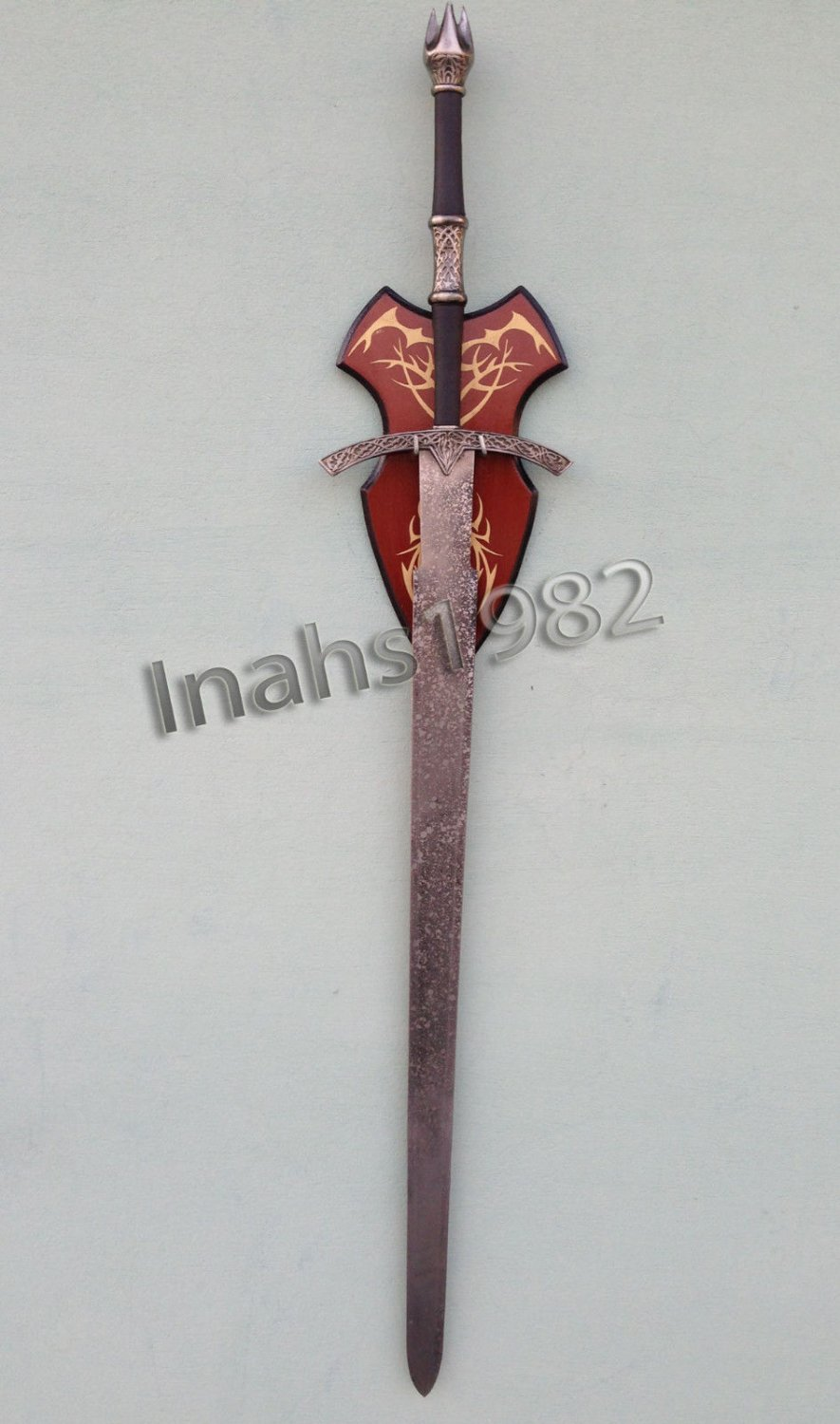 Witch King Sword from Lord of The Rings With Wall Plaque