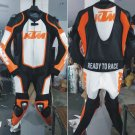 KTM Leather Motorcycle Racing Suit ( Cowhide Leather ) All Size