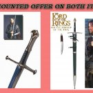 LORT Anduril Sword of Aragorn + Aragorn Strider Sword with knife from LOTR