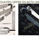 Advent Children Buster Sword + FUNCTIONAL Gunblade Swords W / Stands