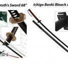 "Final Fantasy Masamune Sephiroth's Sword 68"" + Ichigo Banki Bleach Anime 68"""