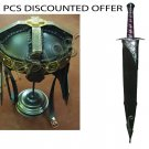 Gimli Helmet FROM LOTR + Sting Sword With Scabbard & Stand