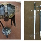 Gimli Helmet FROM LOTR + Aragorn Strider Sword with knife