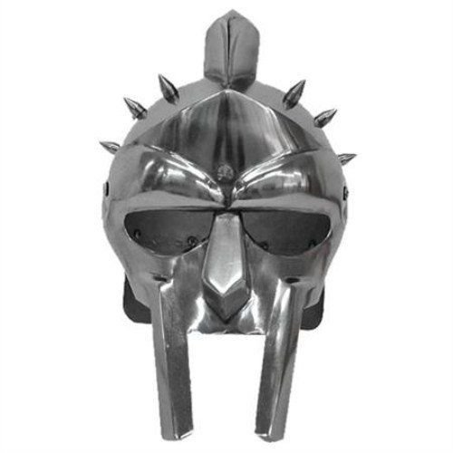 GLADIATOR MAXIMUS ROMAN SPIKED HELMET With Stand