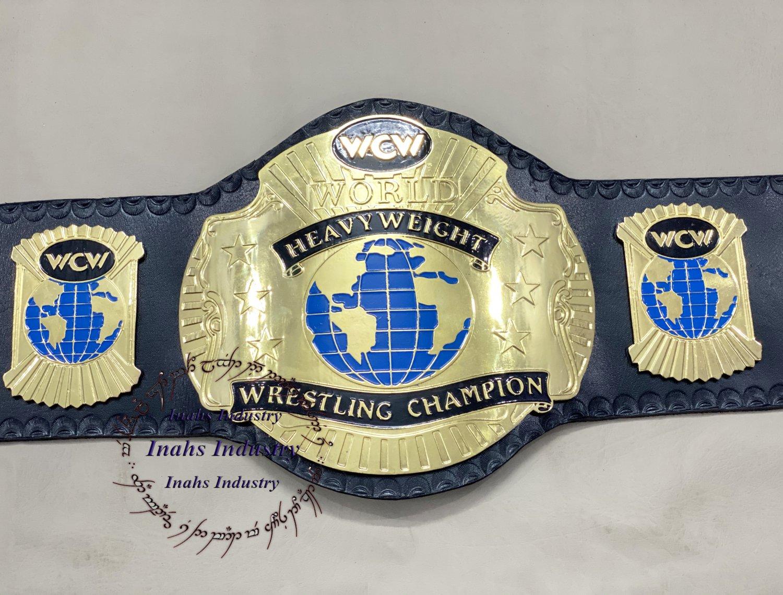 WCW World Heavyweight Wrestling Champion Belt  4mm Plates