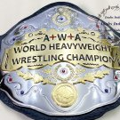 AWA World Heavyweight Championship Title Wrestling Leather Belt 4mm Zinc Plates